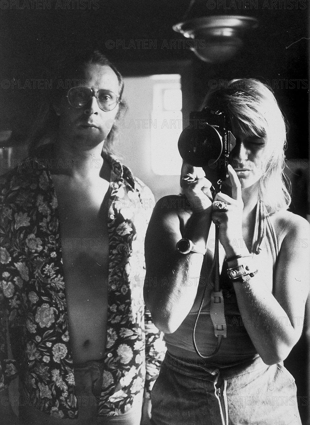 SigmarPolke/Angelika,  Zwei im Spiegel, Willich, 1972